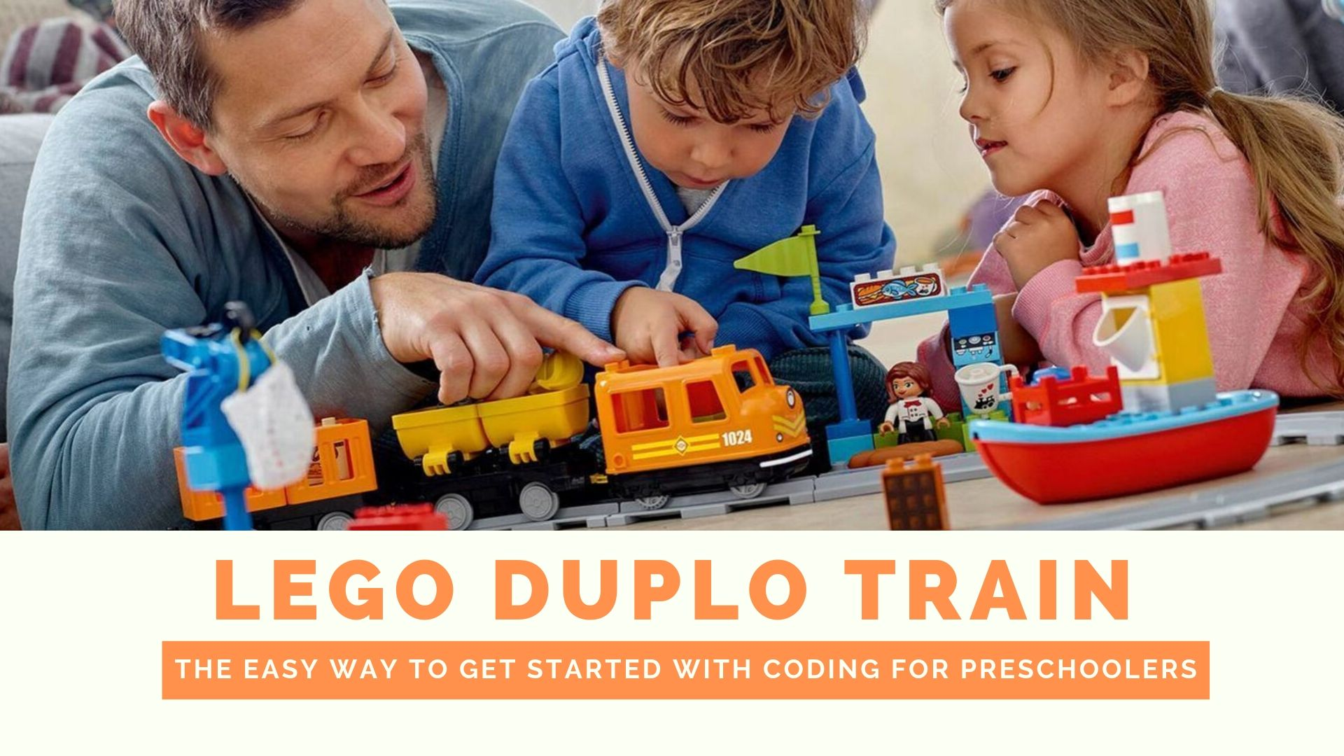 Lego Duplo Train - Easy Way to start with Coding for Preschoolers