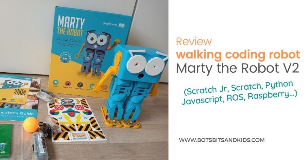 Marty the robot V2 - Scratch Python Javascript ROS - Robotics Kits for Kids and teenagers