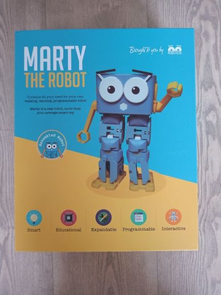 Marty the robot from Robotical - Learn robotics and coding Scratch Python Javascript